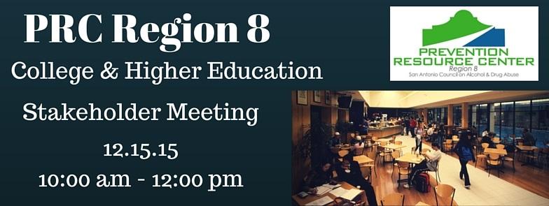 PRC Region 8 College & Higher Ed Mtg. webgraphic